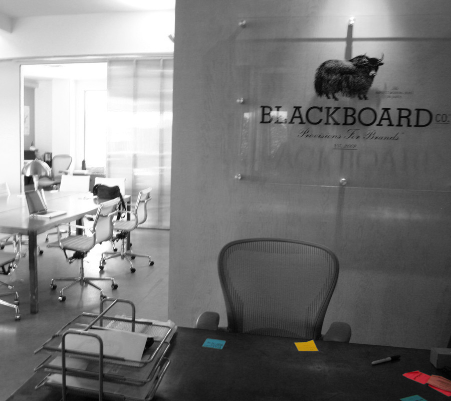 Blackboard Co. Advertising