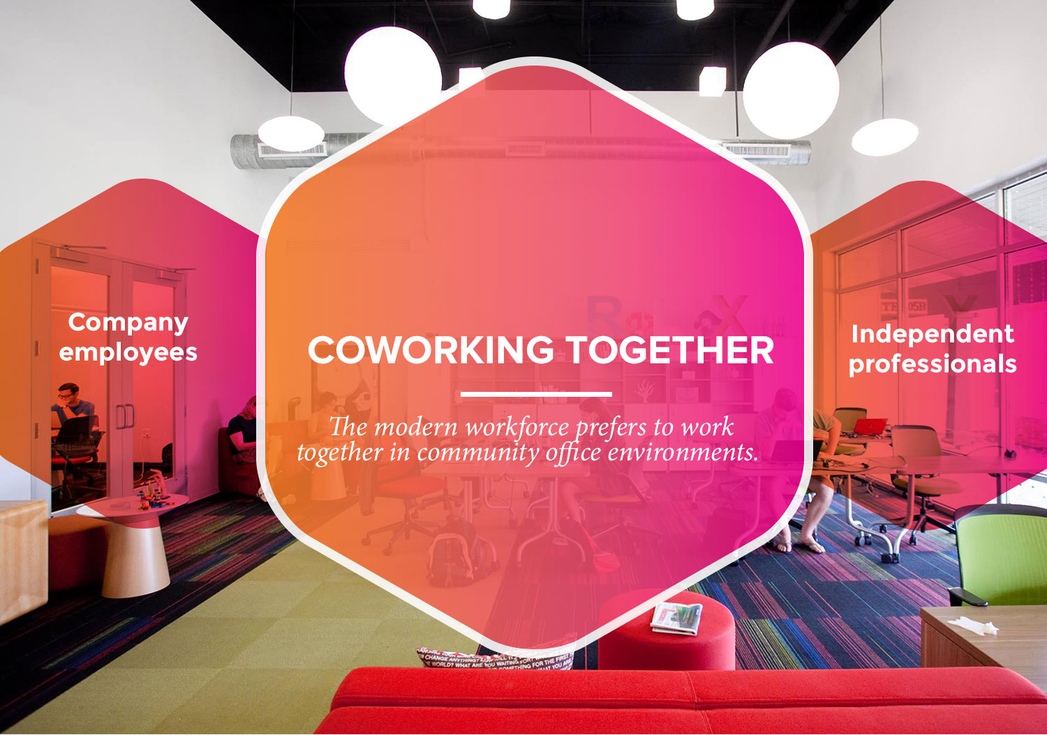 coworking together: employees and independents